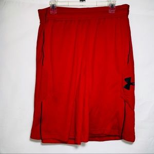 Under Armour Red Basketball Shorts With Pockets